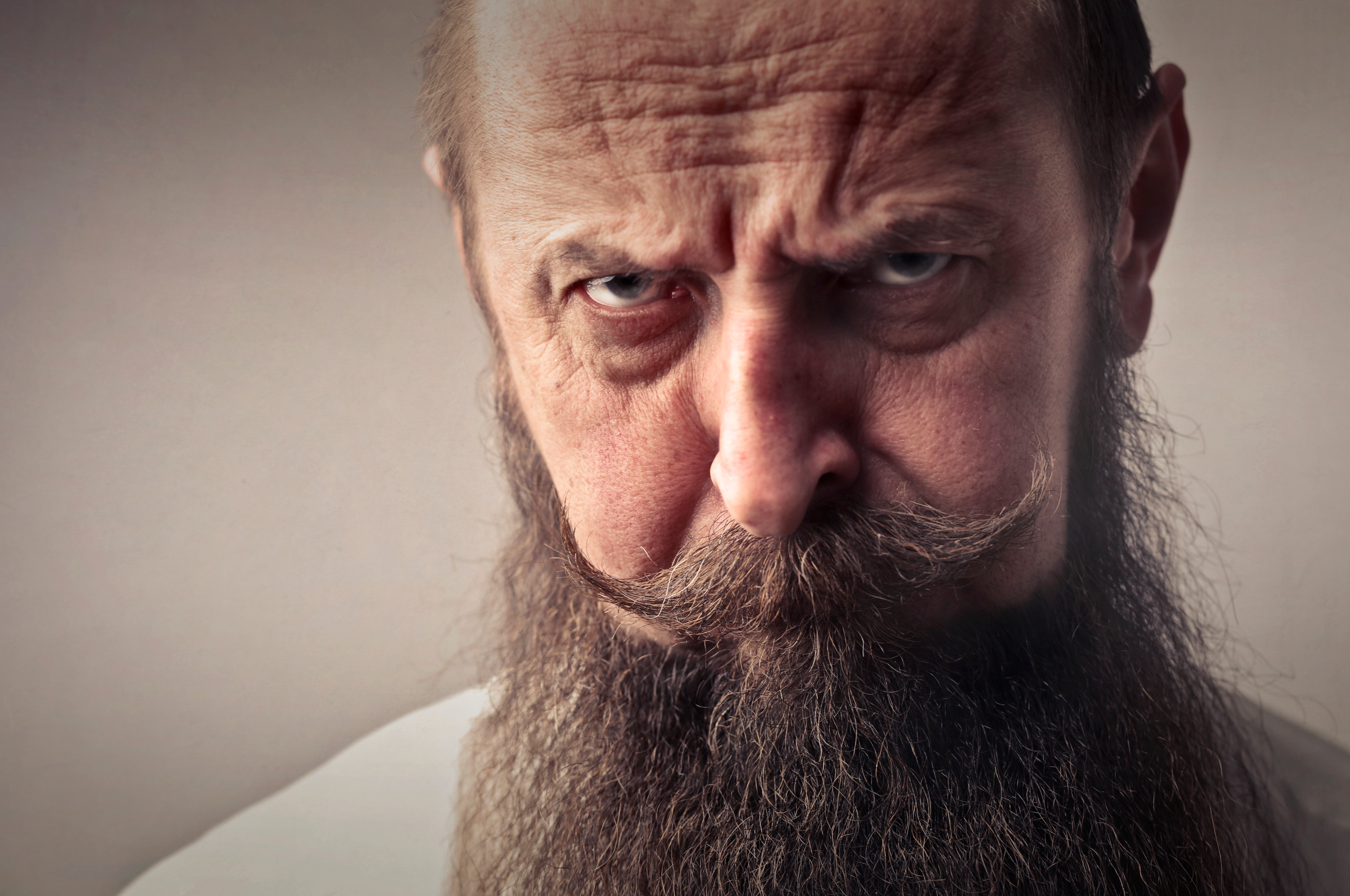 Canva - Elderly Man With Full Beard and Mustache